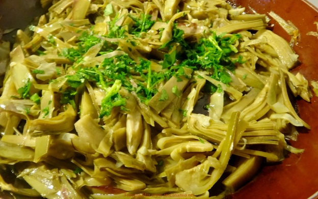 Artichokes and parsley