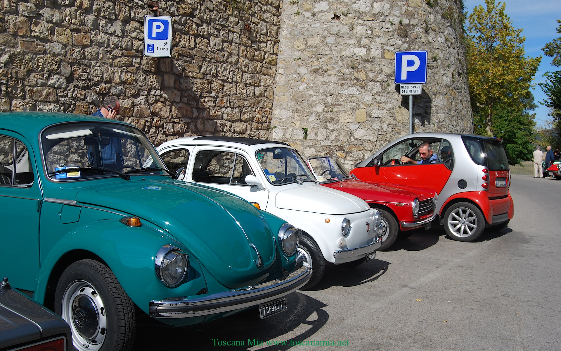 Parking in Radda in Chianti, Tuscany