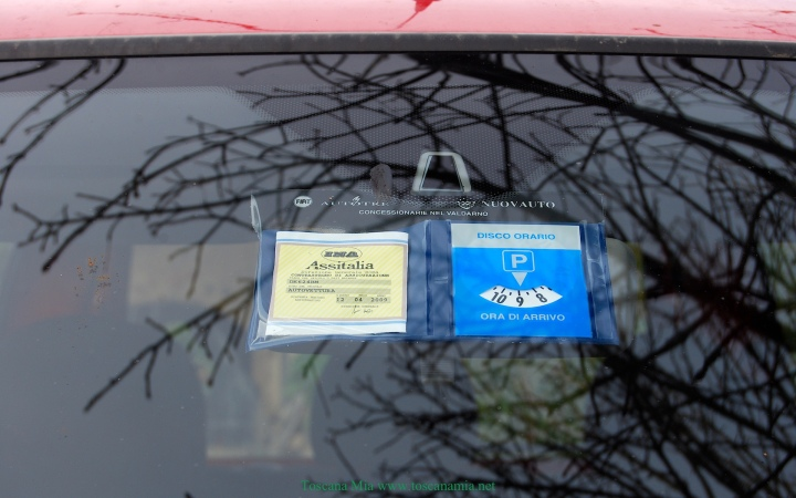 Parking disc Italy