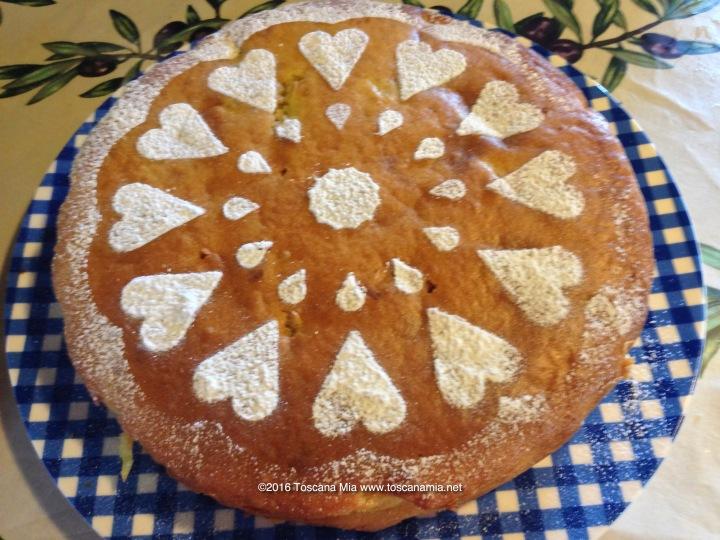 Ricotta Cheese & saffron cake