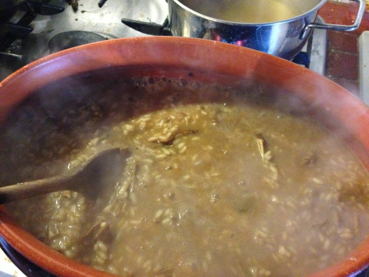Just added the broth,it needs to cook longer
