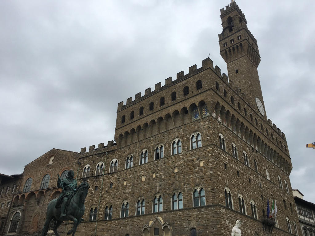 Florence in a rainy day